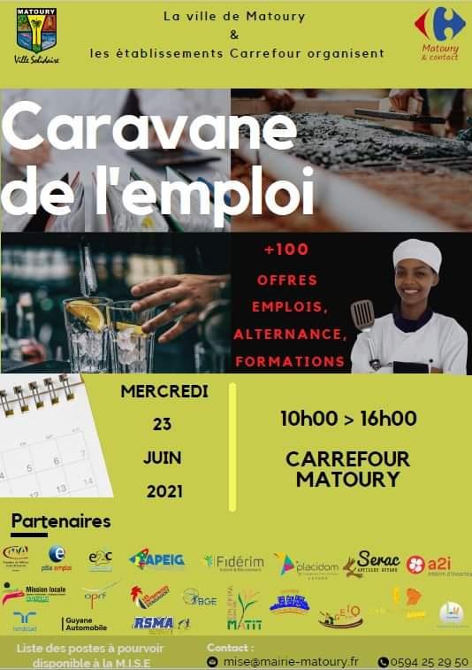 Read more about the article Caravane de l'emploi – CARREFOUR MATOURY